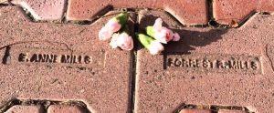 Memorial walkway bricks