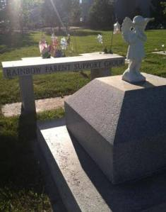 Memorial bench in centemetary